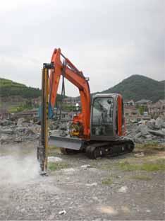 日立6吨挖机改装杭州西溪土石方工程