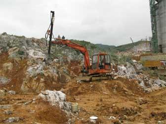 贵州大方土石方工程(斗山5.5吨旧挖机改装)