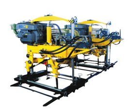 YD-22型液压捣固机,双导柱框架结构,单缸升降方式
